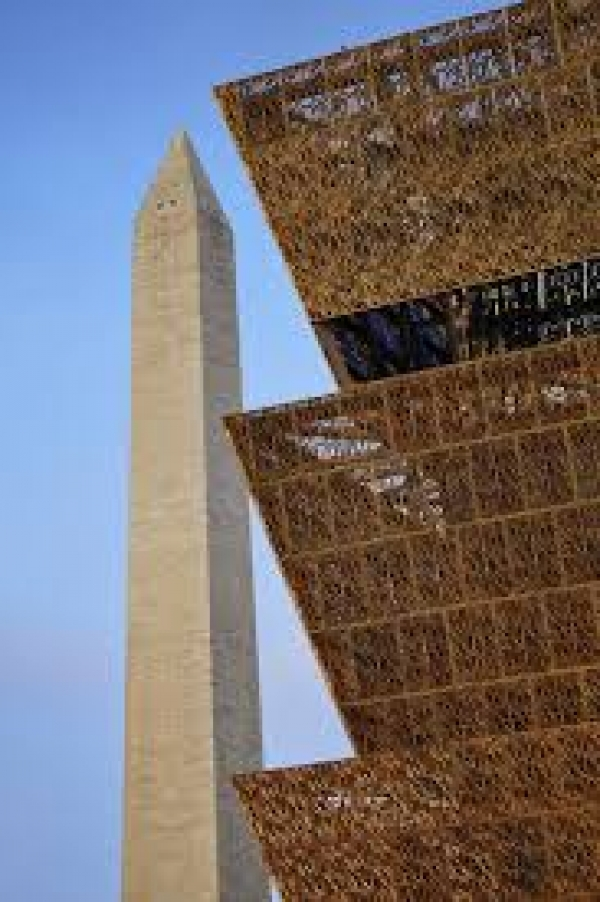 Washington Monument with NMAAHC Corona
